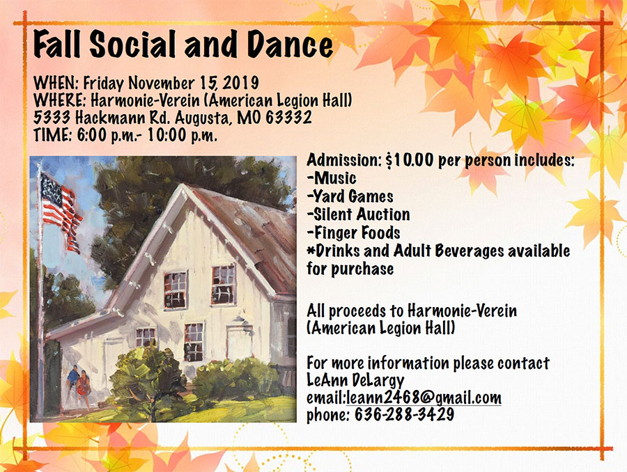 Fall Social and Dance flyer